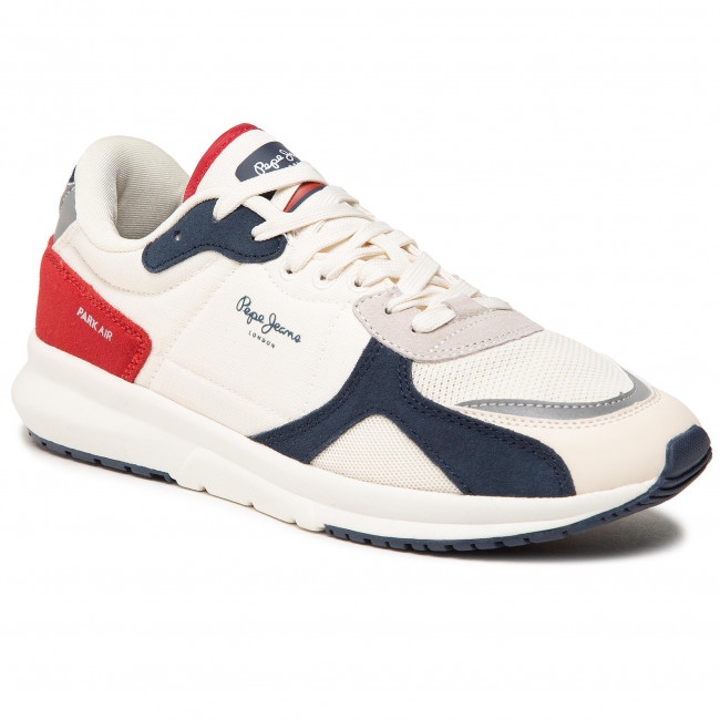 Sneakersy PEPE JEANS - Park Air 0.2 PMS30737 Off White 803