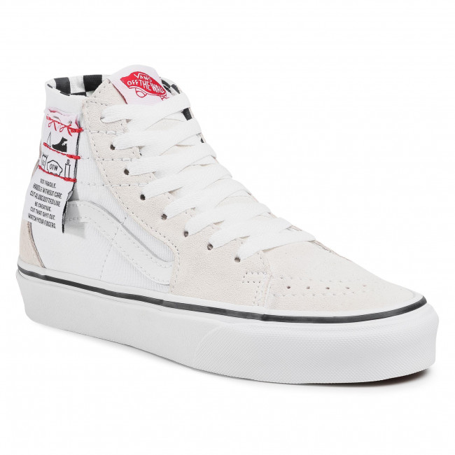 Sneakersy VANS - Sk8-Hi Tapered VN0A4U1624F1  (Diy) White/True White