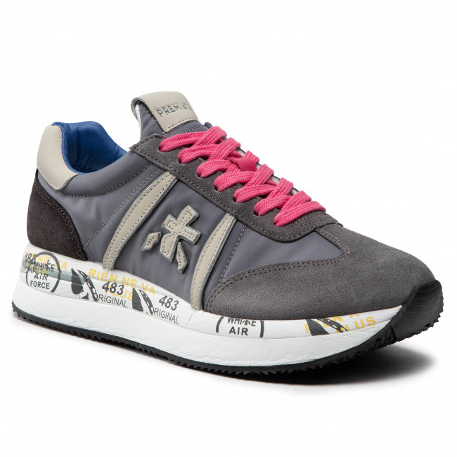 Sneakersy PREMIATA - Conny 5201 Grey/Light Grey/Pink