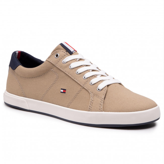 Sneakersy TOMMY HILFIGER - Iconic Long Lace Sneaker FM0FM01536 Camel AEH