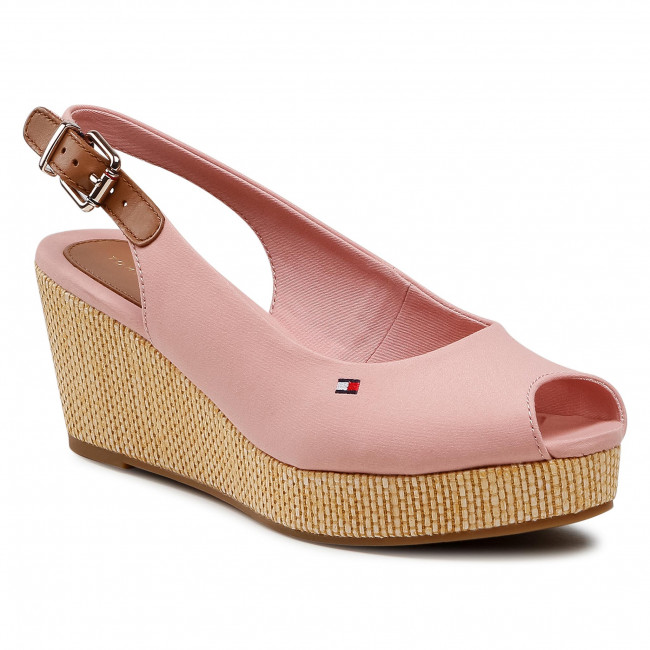 Espadryle TOMMY HILFIGER - Iconic Elba Sling Back Wedge FW0FW04788 Soothing Pink TQS