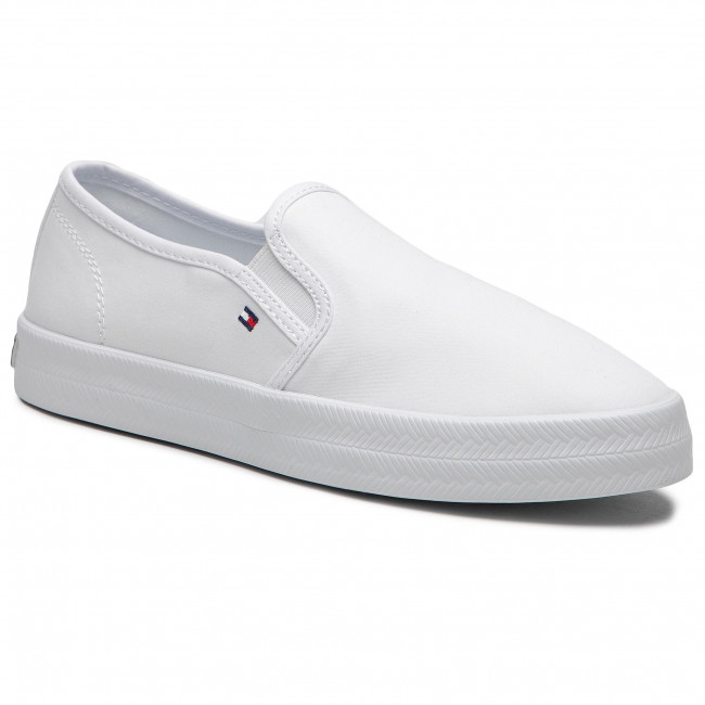 Tenisówki TOMMY HILFIGER - Essential Nautical Slip On FW0FW05535 White YBR
