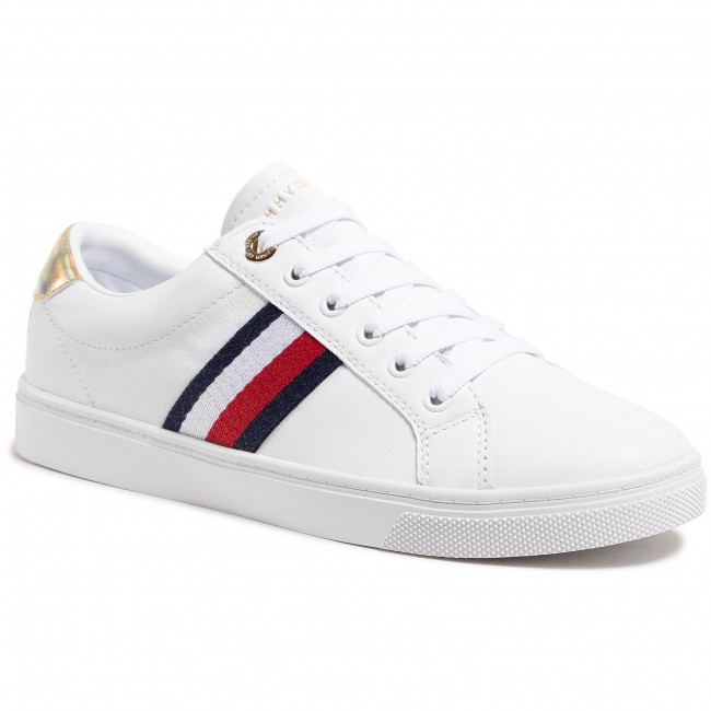 Sneakersy TOMMY HILFIGER - Th Corporate Cupsole Sneaker FW0FW05545 White YBR