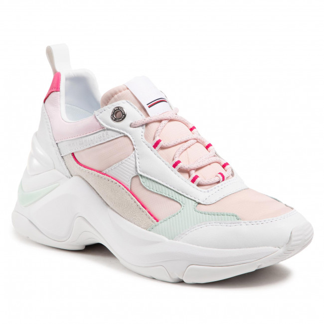 Sneakersy TOMMY HILFIGER - Fashion Wedge Sneaker FW0FW05566 Light Pink TOG