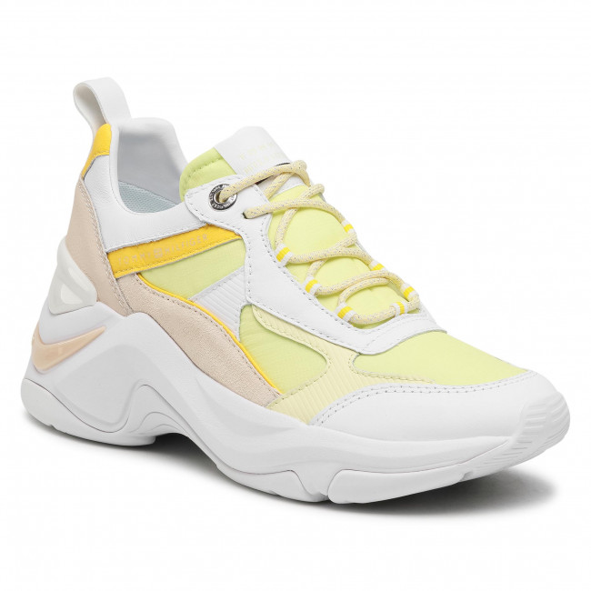 Sneakersy TOMMY HILFIGER - Fashion Wedge Sneaker FW0FW05566 Frosted Lemon ZP5
