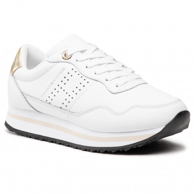 Sneakersy TOMMY HILFIGER - Lifestyle Runner Sneaker FW0FW05557  White YBR