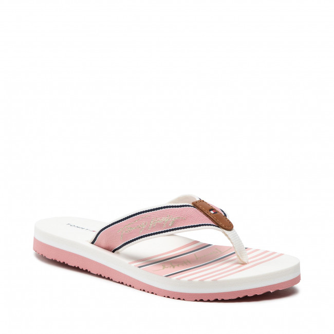 Japonki TOMMY HILFIGER - Signature Beach Sandal FW0FW05662 Soothing Pink TQS