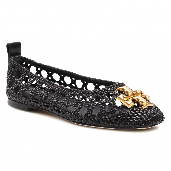 Baleriny TORY BURCH - Eleanor Woven Ballet 81027 Perfect Black 006