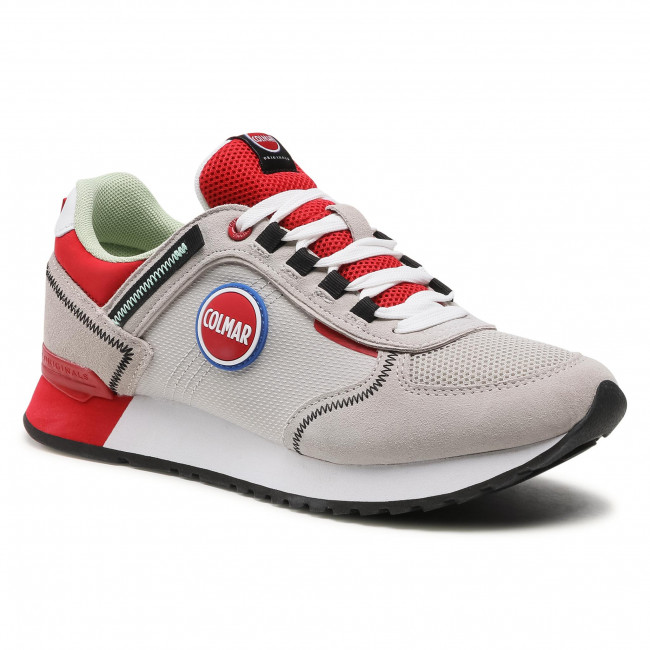 Sneakersy COLMAR - Travis Sport Colors 038 Lt Gray/Red