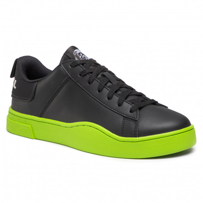 Sneakersy DIESEL - S-Clever Low Lace Y02045 P3815 H7090 Black/Yellow Fluo