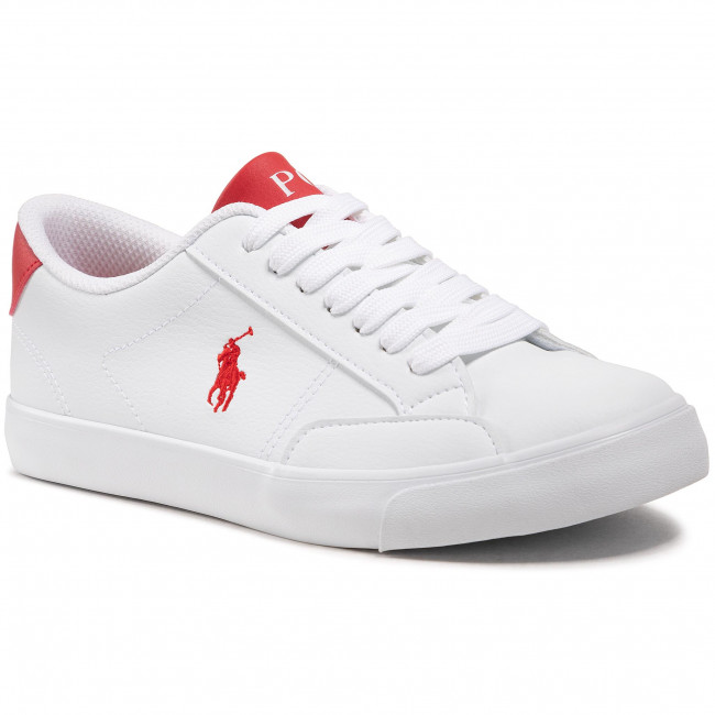 Sneakersy POLO RALPH LAUREN - Theron IV RF102979  White/Red