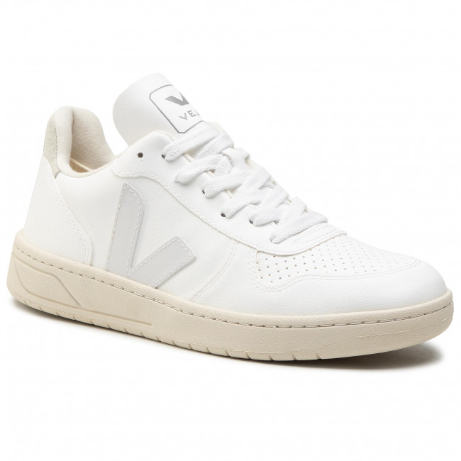 Sneakersy VEJA - V-10 Cwl VX072071B White/White/Natural
