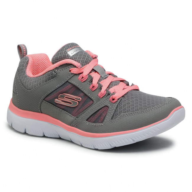 Buty SKECHERS - New World 12997/GYCL Gray/Coral