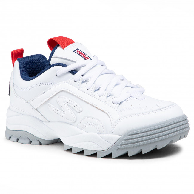 Sneakersy SKECHERS - Intershift 98201L/WNVR  White/Navy/Red