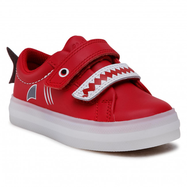 Sneakersy CLARKS - Flare Scale Lo T 261580727 Red Leather