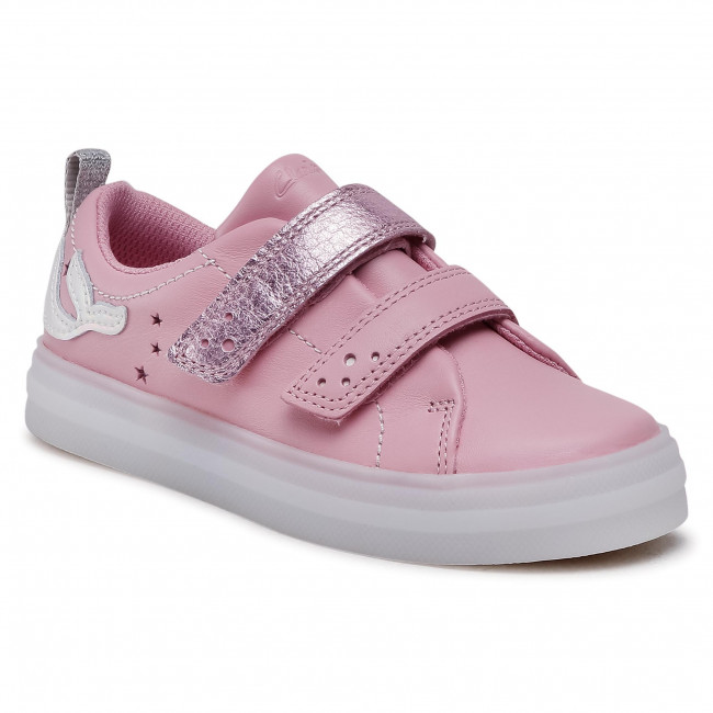 Sneakersy CLARKS - FlareShelllo T 261580706 Pink Leather