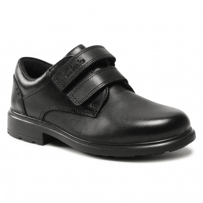 Półbuty CLARKS - Remi Pace K 261553087 Black Leather