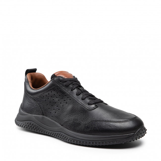 Sneakersy CLARKS - Puxton Lace 261578377 Black Leather