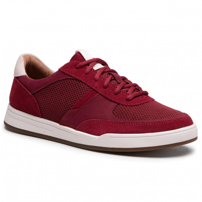 Sneakersy CLARKS - Bizby Lace 261596427 Red Combi