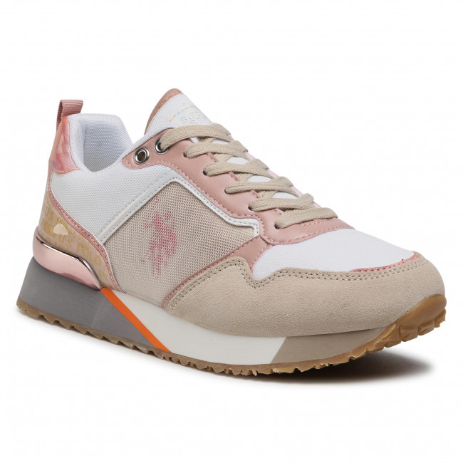 Sneakersy U.S. POLO ASSN. - FRIDA4101S1/MS1 Whi/Rose