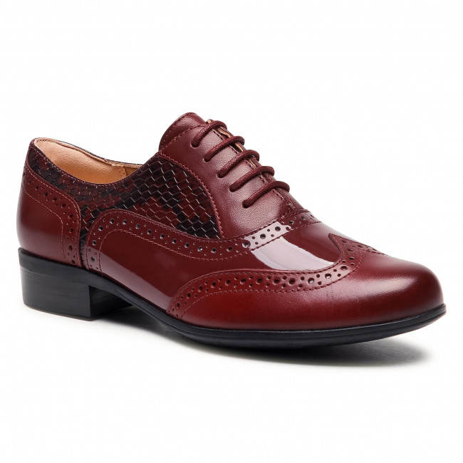 Oxfordy CLARKS - Hamble Oak 261514664  Merlot