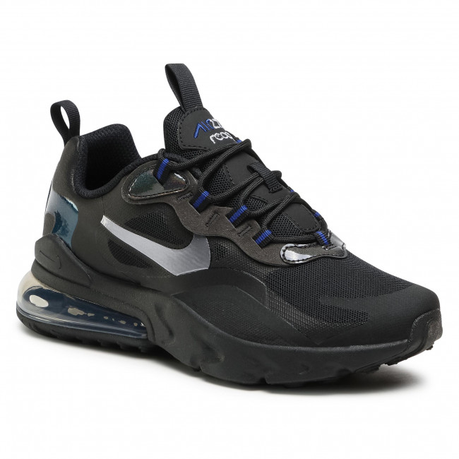 Buty NIKE -  Air Max 270 React Gs Black/Mtlc Cool Grey