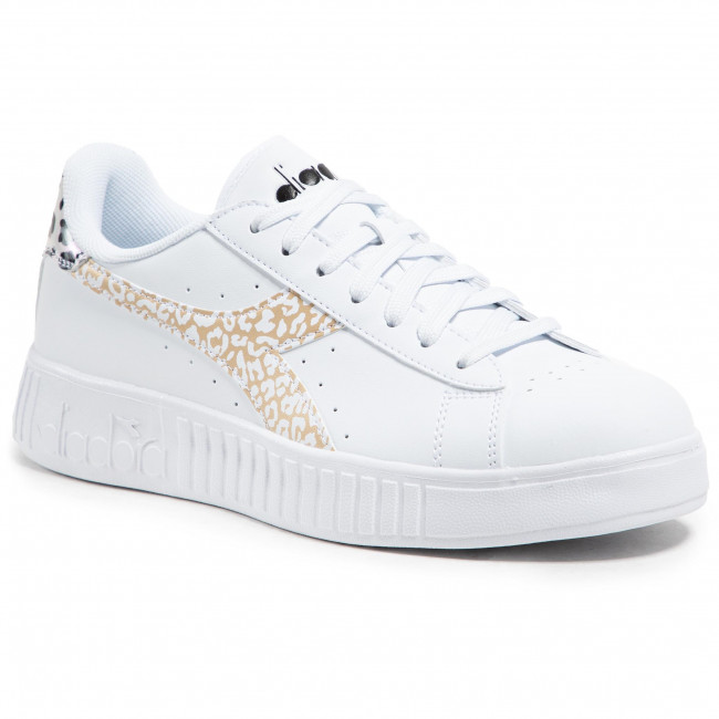 Sneakersy DIADORA - Game P Step Animalier 101.177332-C8581 White/Frosted Almond