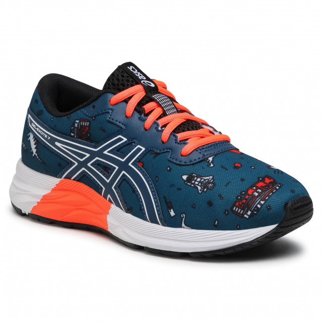 Buty ASICS - Gel-Excite 7 Gs 1014A181 Mako Blue/White 401