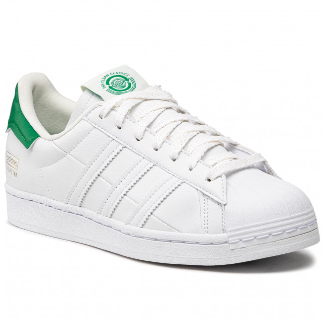 Buty adidas - Superstar FY5480 Cloud White / Off White / Green