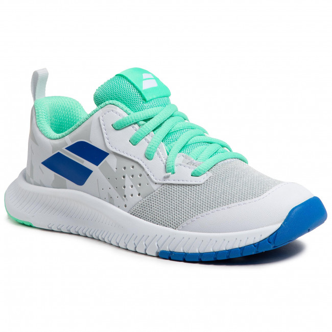 Buty BABOLAT - Pulsion All Court Jr 32S21482 White/Biscay Green