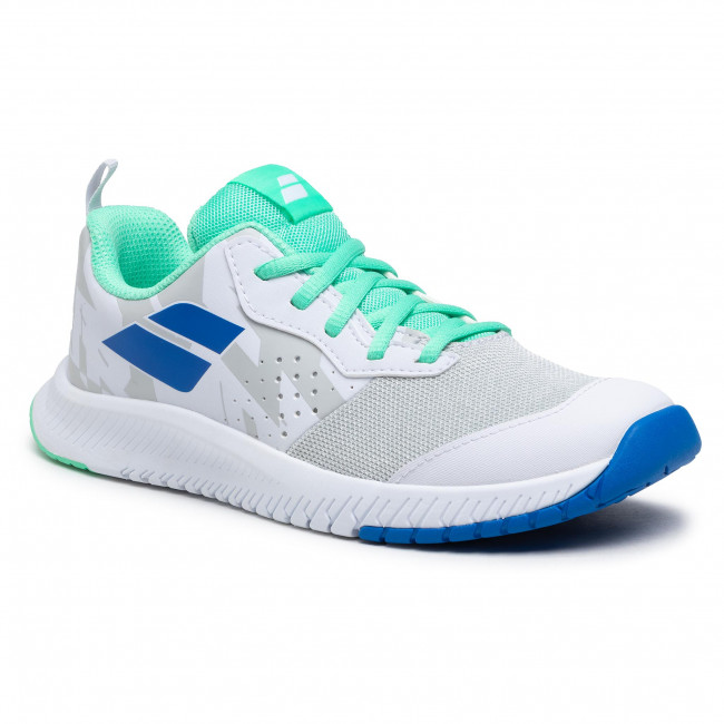 Buty BABOLAT - Pulsion All Court Jr 33S21482 White/Biscay Green