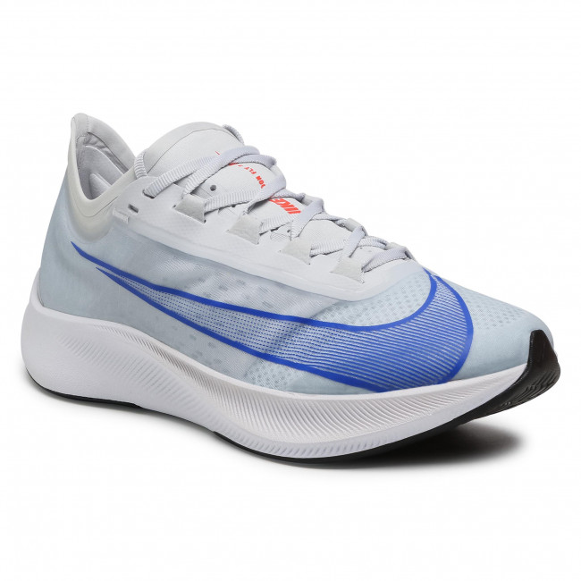 Buty NIKE - Zoom Fly 3 AT8240 005 Pure Platinum/Racer Blue