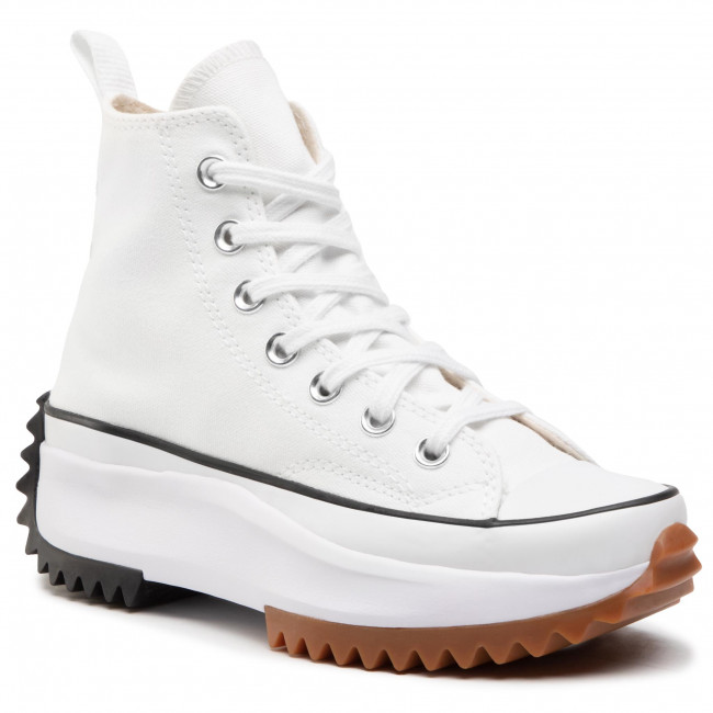 Sneakersy CONVERSE - Run Star Hike Hi 166799C White/Black/Gum