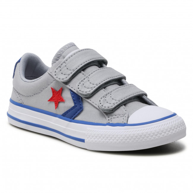 Trampki CONVERSE - Star Player 3V Ox 663601C Wolf Grey/Blue/Enamel Red