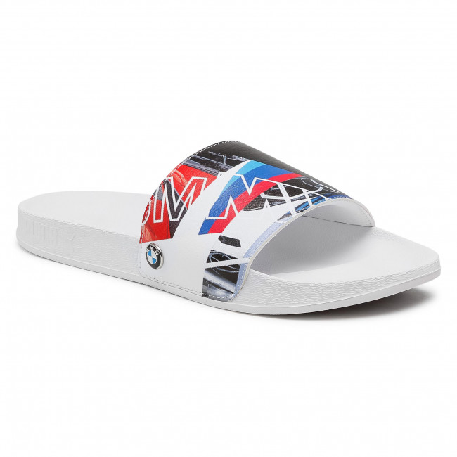 Klapki PUMA - Bmw Mms Graphic Leadcat Ftr 368582 01 P White/P White/High Risk Red