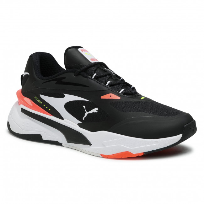 Sneakersy PUMA - Rs-Fast Tech 380191 02 Black/White/Fiery Coral