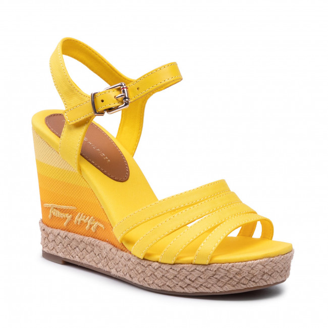 Espadryle TOMMY HILFIGER - Tommy Gradient High Wedge Sandal FW0FW05631 Vivid Yellow ZGS