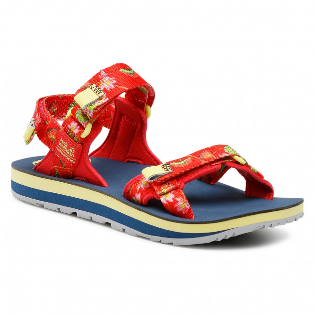 Sandały JACK WOLFSKIN - Outfresh Deluxe Sandal W 4039451-7828030 Tulip Red All Over