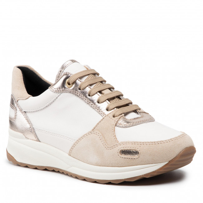 Sneakersy GEOX - D Airell A D162SA 08522 C1181 Off White/Lt Taupe