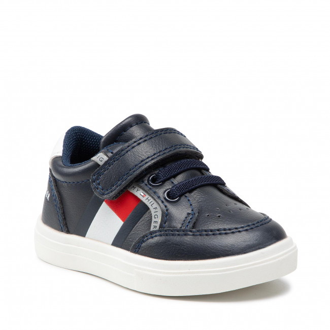 Sneakersy TOMMY HILFIGER - Low Cut Lace T1B4-32038-0754Y004 Blue/White/Red Y004