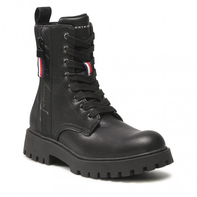 Trapery TOMMY HILFIGER - Lace-Up Bootie T3A5-31195-0289999 Black 999