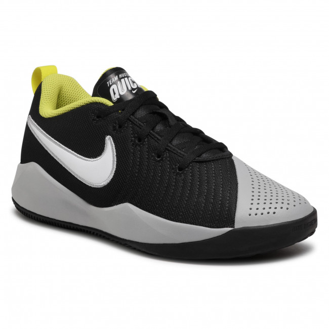 Buty NIKE - Team Hustle Quick 2 (Gs) AT5298 015 Black/White/Lt Smoke Grey
