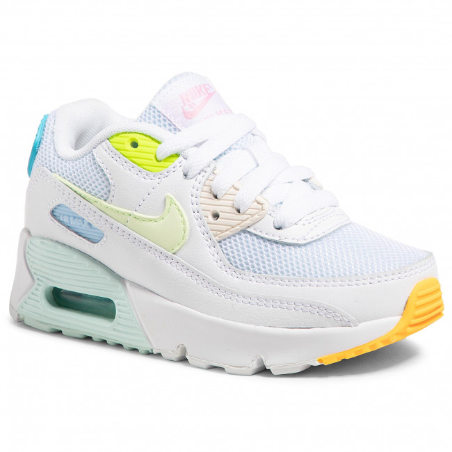 Buty NIKE - Air Max 90 Ps CZ0367 100 White/Barely Volt/Aurora Green