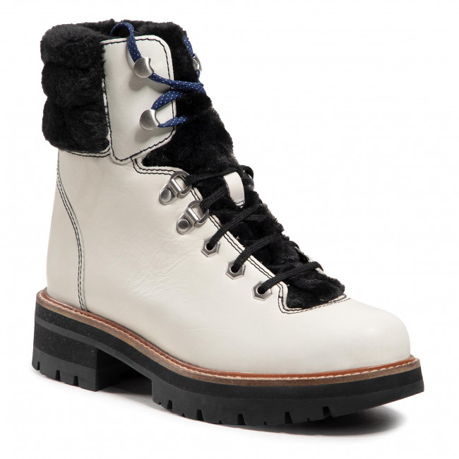 Trapery CLARKS - Orianna Hiker 261525544  White Leather
