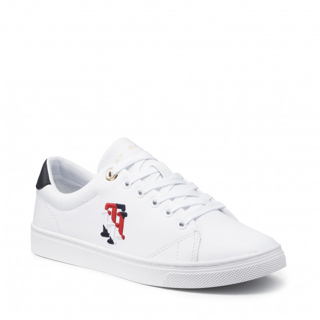 Sneakersy TOMMY HILFIGER - Tommy Monogram Casual Sneaker FW0FW05794 White YBR