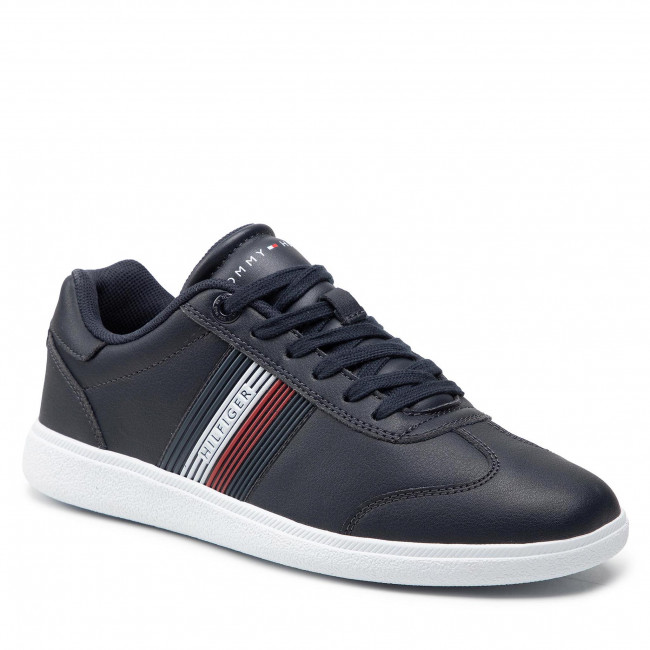 Sneakersy TOMMY HILFIGER - Core Corporate Leather Cupsole FM0FM03624 Desert Sky DW5