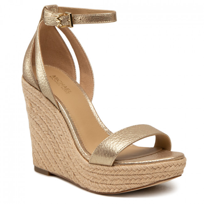 Espadryle MICHAEL MICHAEL KORS - Kimberly Wedge 40S1KBHS1M Pale Gold