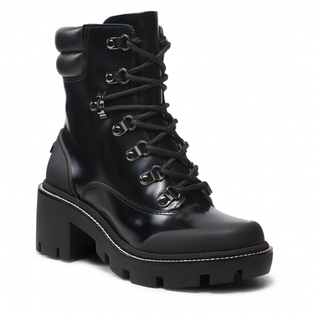Botki TORY BURCH - Lug Sole Hiker Ankle Boot 85304 Perfect Black/Perfect Black 004