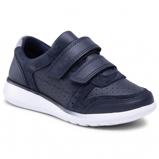 Sneakersy CLARKS - Scape Spirit K 261516147 Navy Leather