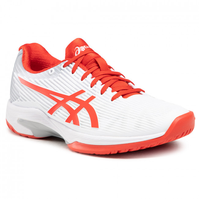 Buty ASICS - Solution Speed Ff 1042A002 White/Fiery Red 104